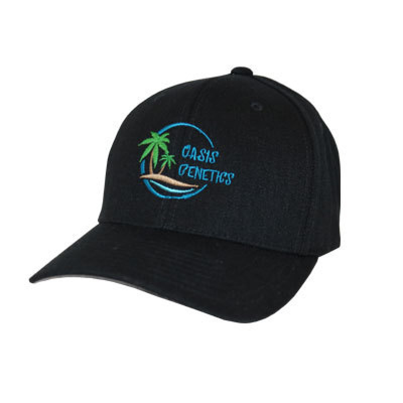 Flexfit Hat (Oasis Genetics) - Black